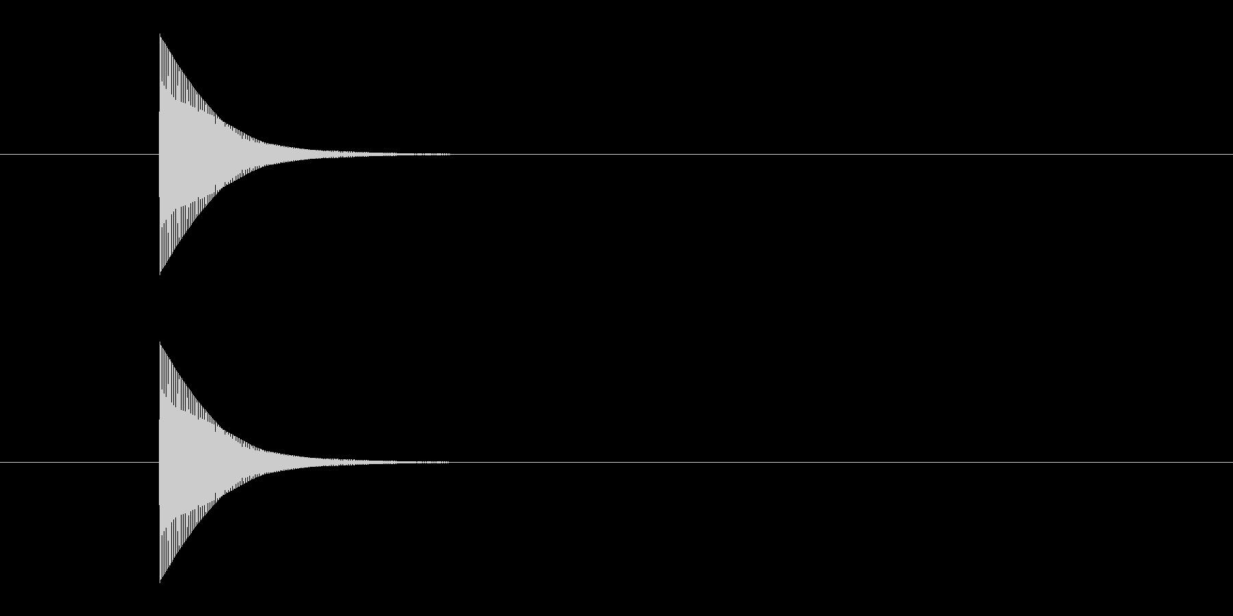 ポーン というシンプルな決定音02ですの未再生の波形