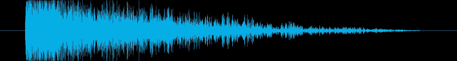 【銃スペースガン】バキューンの再生済みの波形