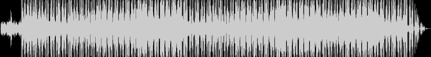 ヒップホップ風のテクノポップの未再生の波形
