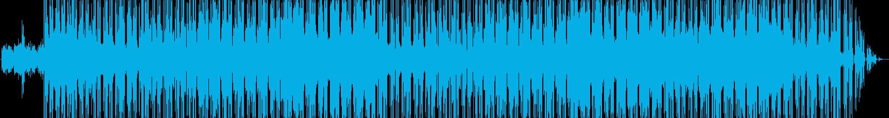 ヒップホップ風のテクノポップの再生済みの波形