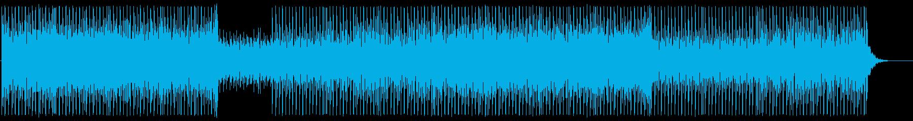 ビートの効いた軽いテクノ調の再生済みの波形