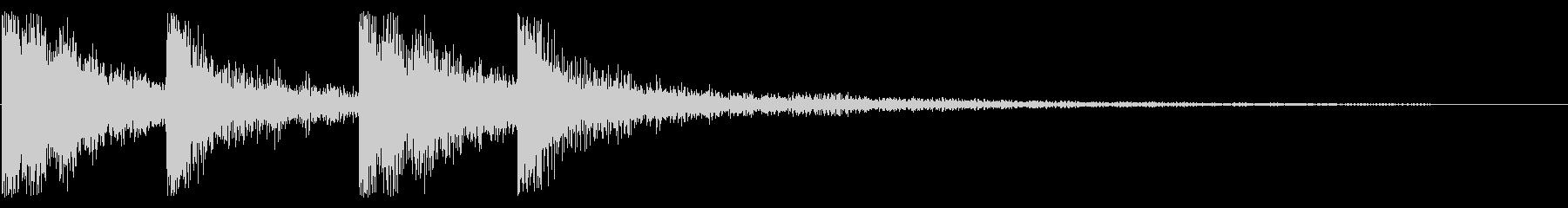 ピンポン 正解 トイピアノの未再生の波形