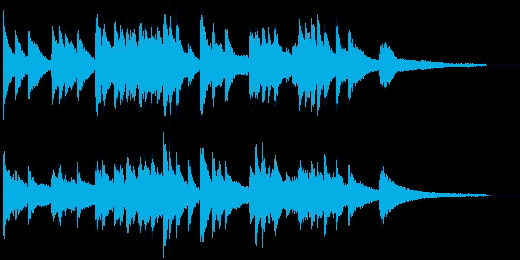 短いピアノソロ曲 ドラマ場面切り替え等にの再生済みの波形