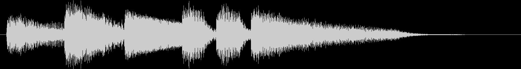 ブルージーなジャズピアノジングル3の未再生の波形