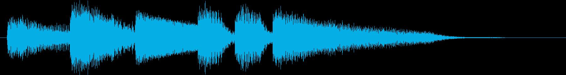 ブルージーなジャズピアノジングル3の再生済みの波形