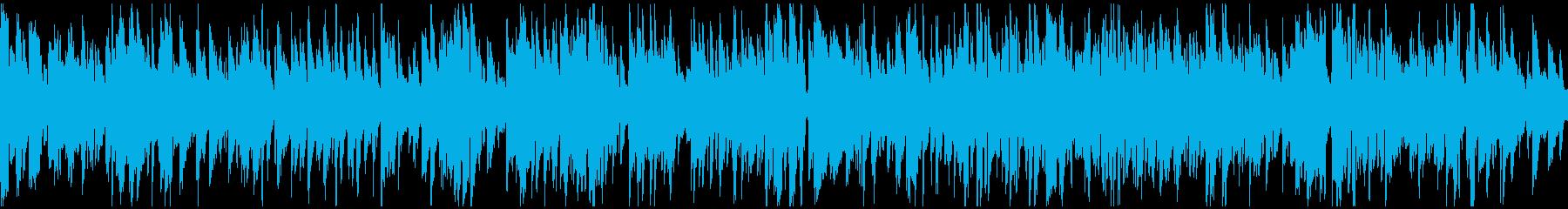 生演奏サックスの渋いジャズ ※ループ版の再生済みの波形
