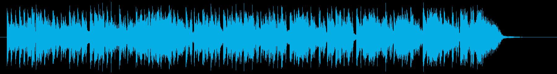 マイナーでクールなピアノジングルの再生済みの波形