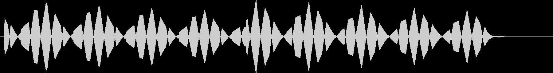 ブブ(キャンセル、間違い、バツ)の未再生の波形