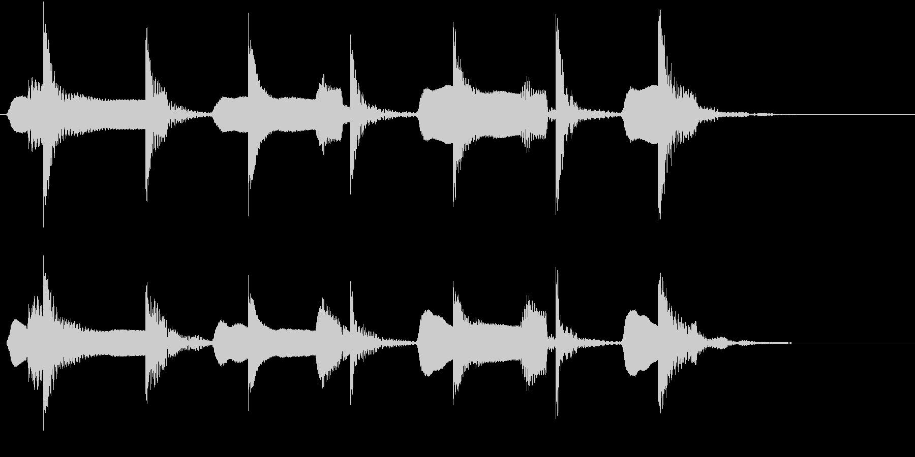 木琴とリコーダーの可愛らしいジングルの未再生の波形