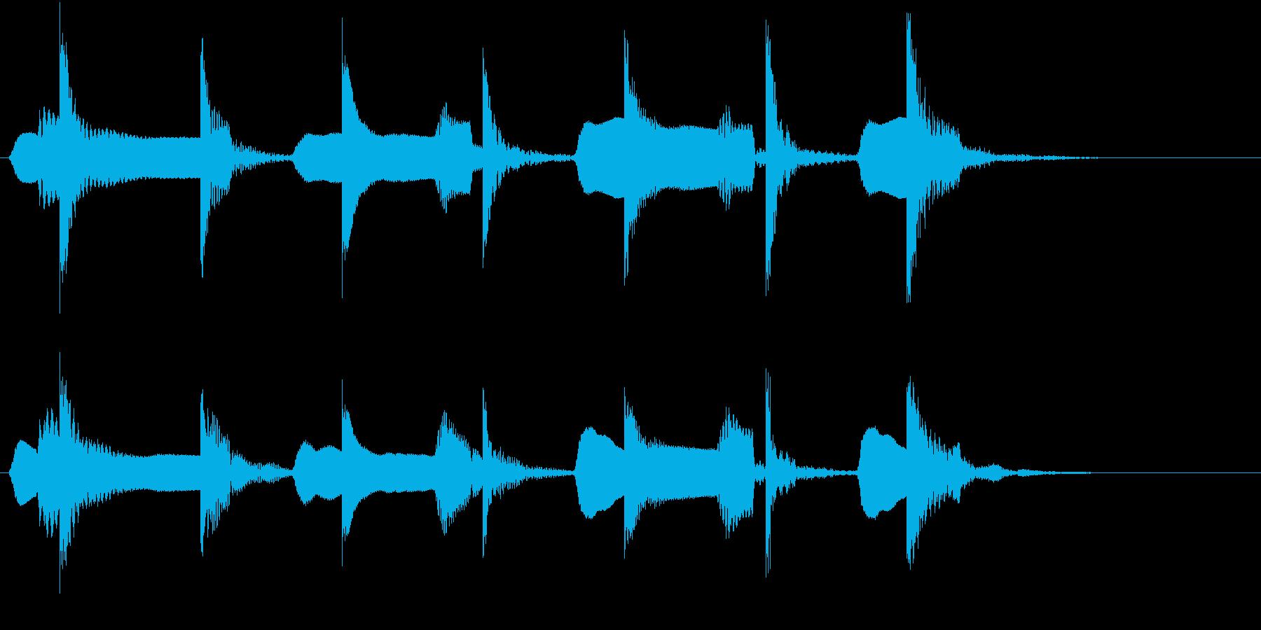 木琴とリコーダーの可愛らしいジングルの再生済みの波形