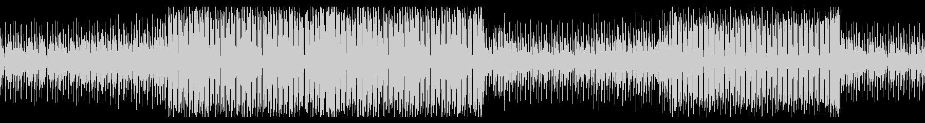 軽快なジャズドラムのエレクトロスウィングの未再生の波形