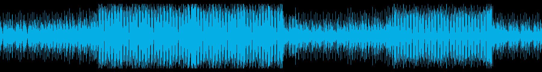 軽快なジャズドラムのエレクトロスウィングの再生済みの波形