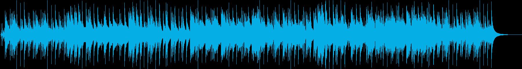 優しく包み込むようなピアノとフルートの曲の再生済みの波形
