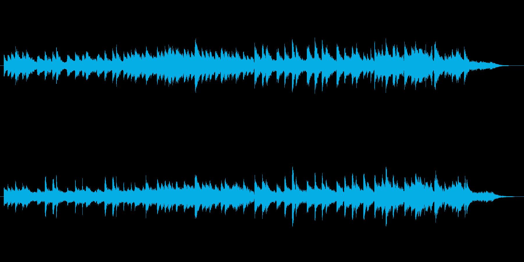 切なく感動的なピアノとストリングス曲の再生済みの波形