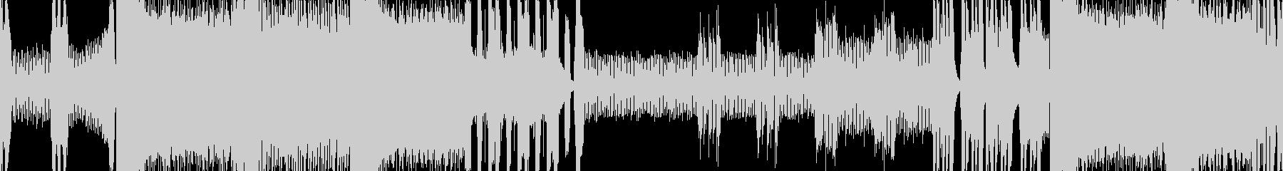 クールなメタルのボスバトル曲 ループ版の未再生の波形