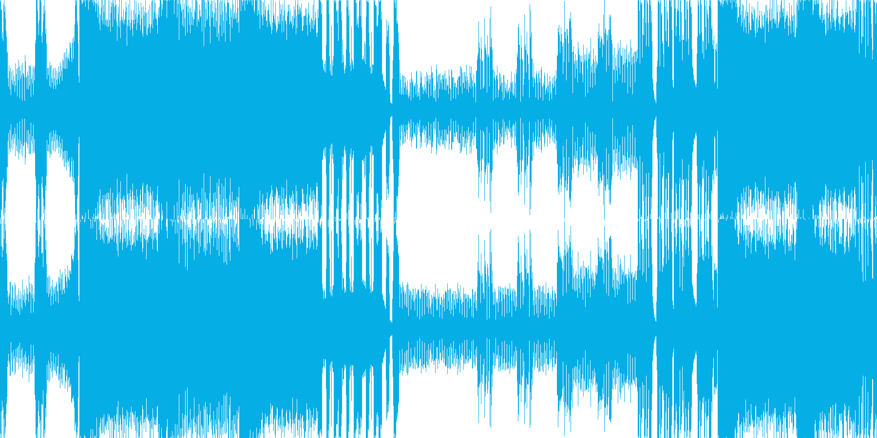クールなメタルのボスバトル曲 ループ版の再生済みの波形