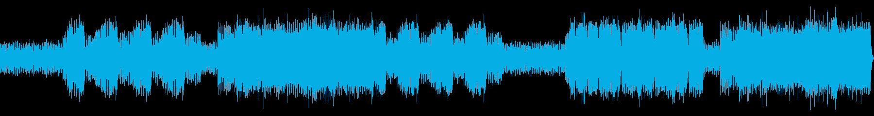 怖いながらも楽しい楽曲の再生済みの波形
