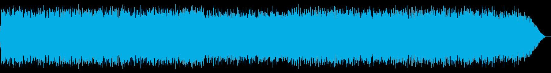 エスニックな竹笛の音楽の再生済みの波形