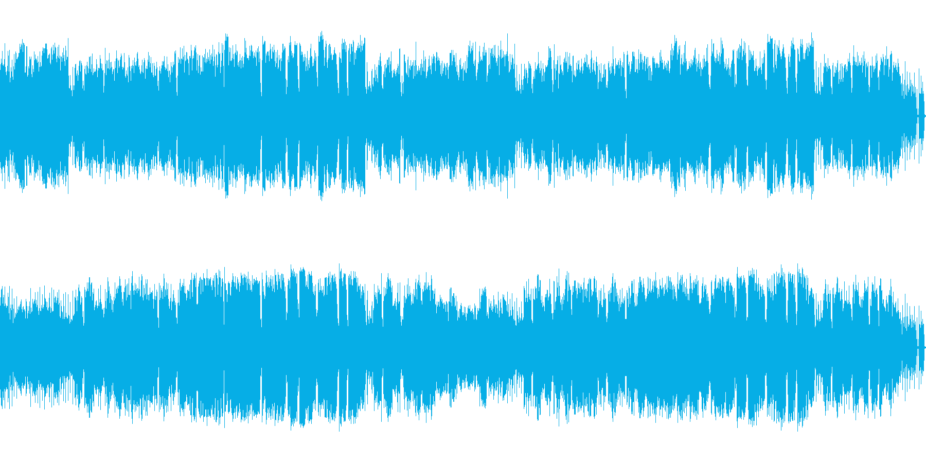 管楽器中心の疾走感あるメロディアスな楽曲の再生済みの波形