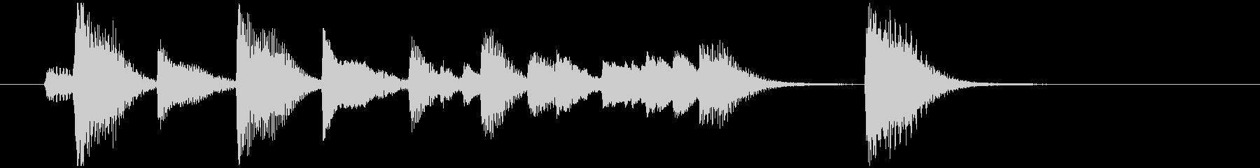 ブルージーなピアノソロジングル グルーヴの未再生の波形