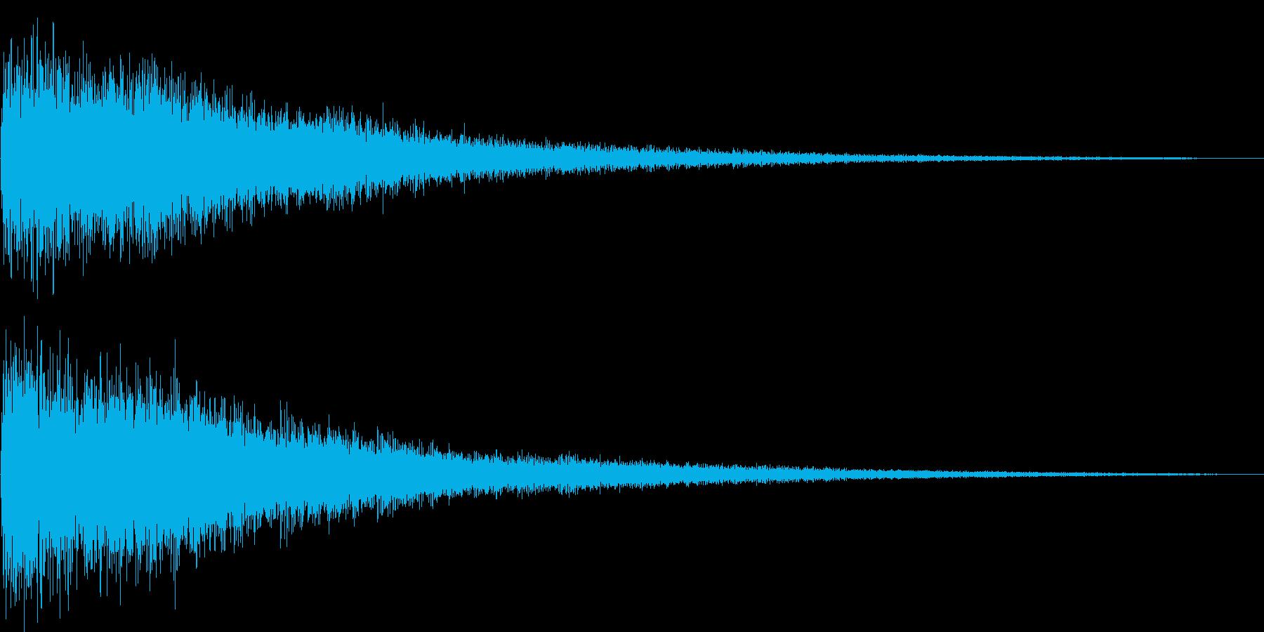 [ドワーン]中国/ドラ/銅鑼/少林寺の再生済みの波形