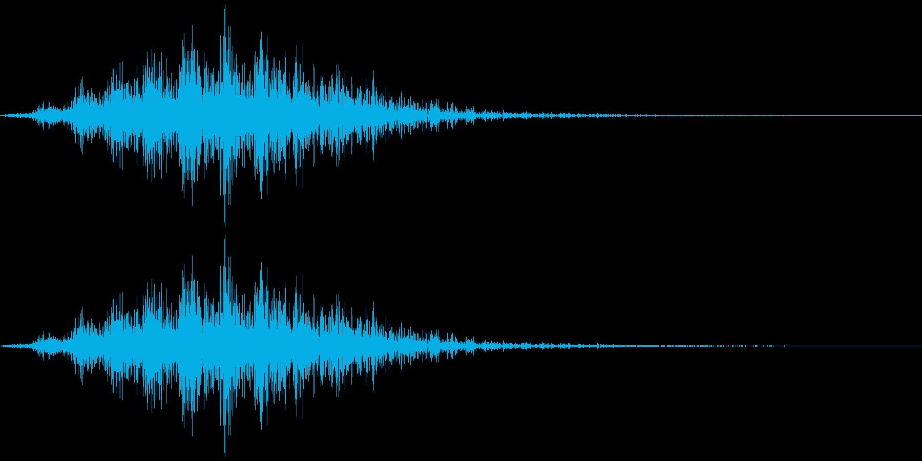 飛んでいく、横切る音2の再生済みの波形