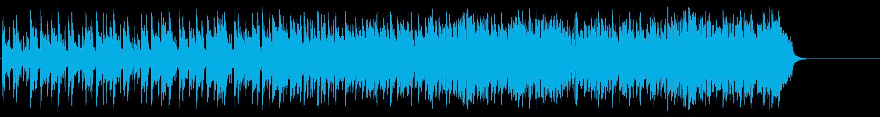 リゾート風のフュージョン(Aメロ~サビ)の再生済みの波形