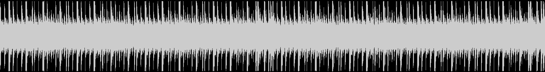 ローファイでシンプルなピアノのループの未再生の波形