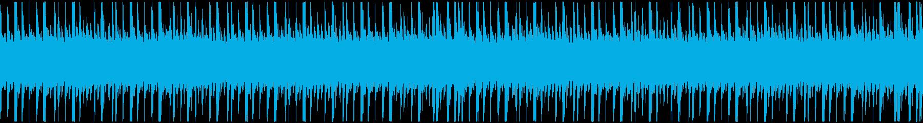 ローファイでシンプルなピアノのループの再生済みの波形