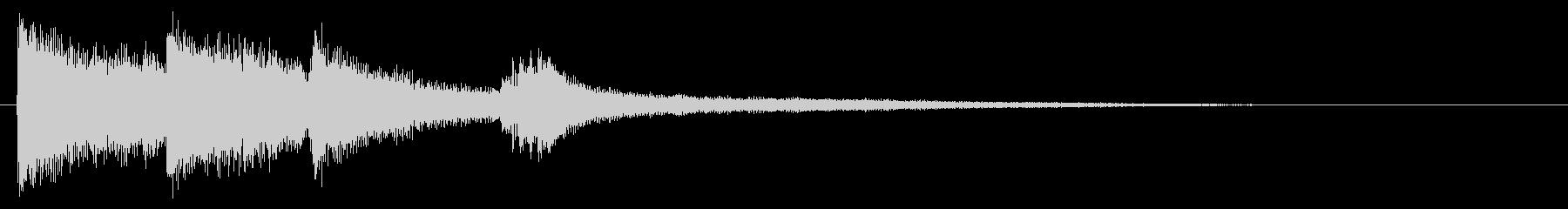 爽やかなピアノのサウンドロゴ シンセ抜きの未再生の波形