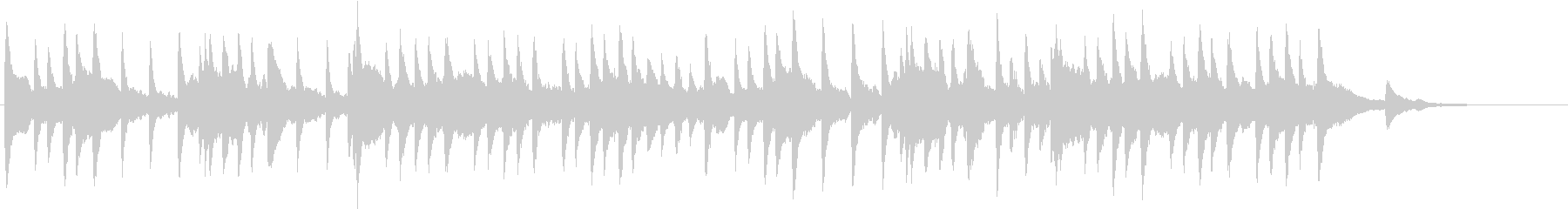 メヌエット バッハ オルゴールの未再生の波形