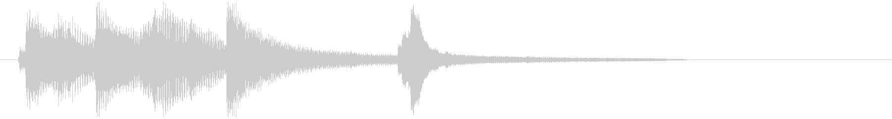 クリアBGMの様なピアノフレーズの未再生の波形