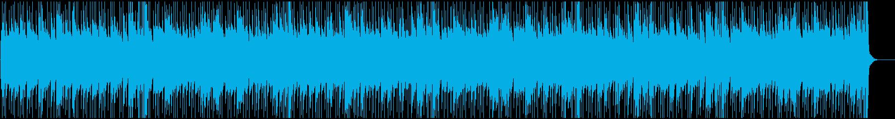 キラキラとした透明感のある爽やかなBGMの再生済みの波形