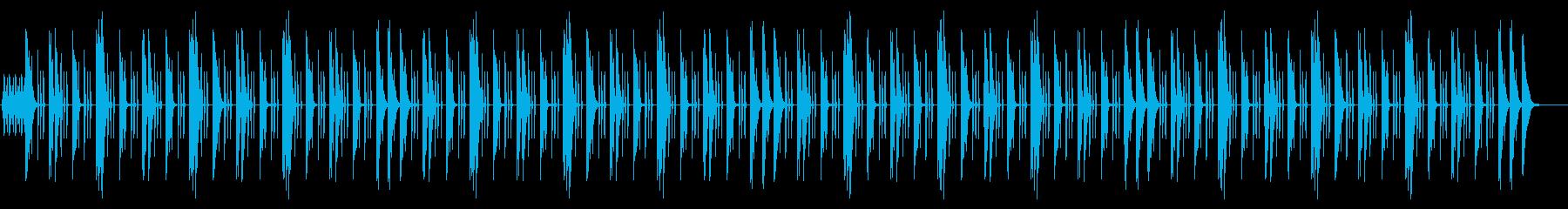 アップテンポでノリのいいインストの再生済みの波形