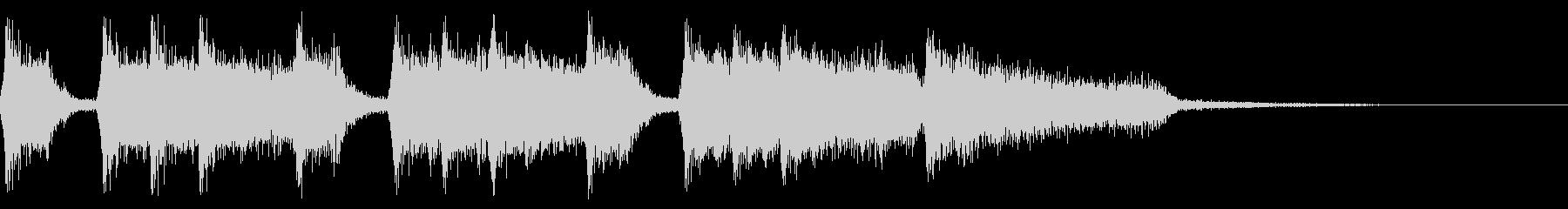 低めのレトロ音のファンファーレ 8bitの未再生の波形