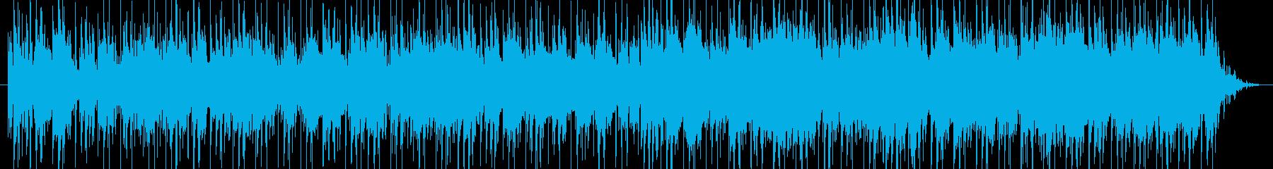 リラックス感のあるポップス調16ビートの再生済みの波形