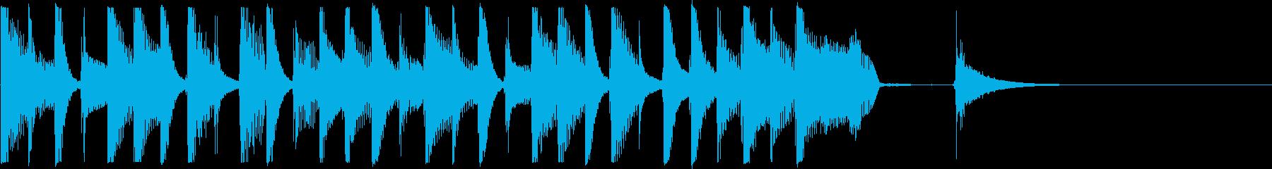 ジングル5秒でほのぼの♪軽快楽しい日常♪の再生済みの波形