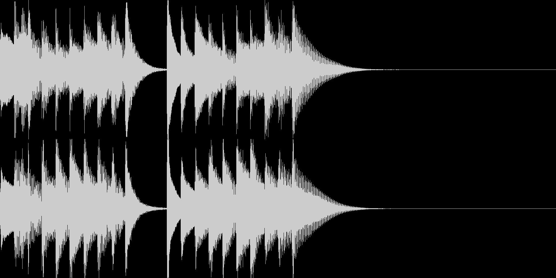 ステージクリア音などに。の未再生の波形