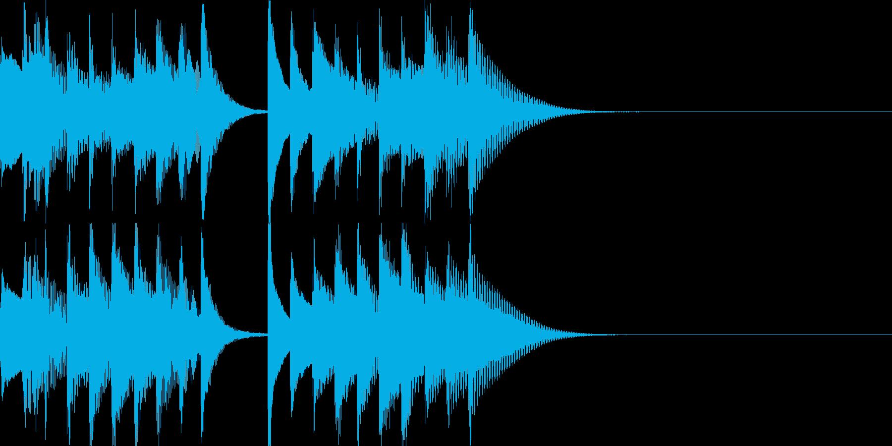ステージクリア音などに。の再生済みの波形