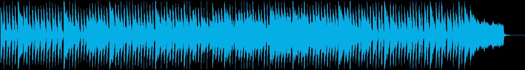 猫、犬、ほのぼのしたペット動画向け脱力曲の再生済みの波形