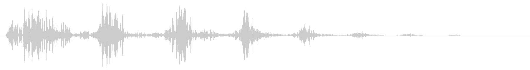 ピュルル〜(小動物が逃げるような効果音)の未再生の波形