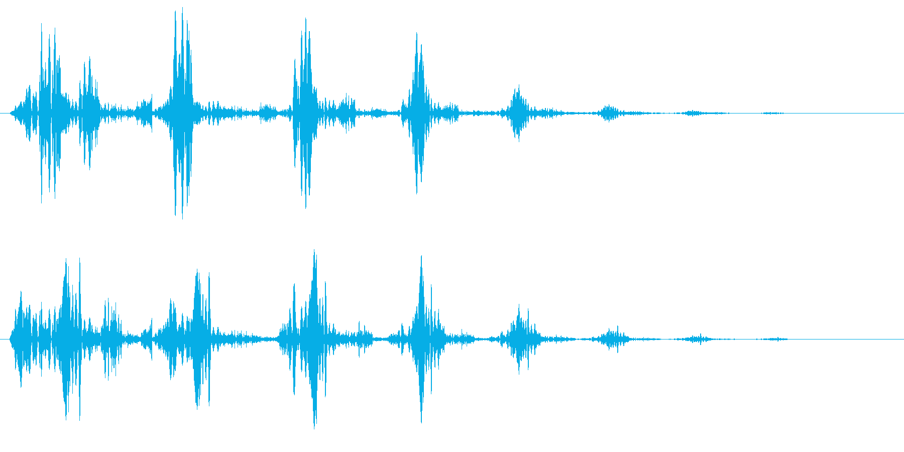 ピュルル〜(小動物が逃げるような効果音)の再生済みの波形