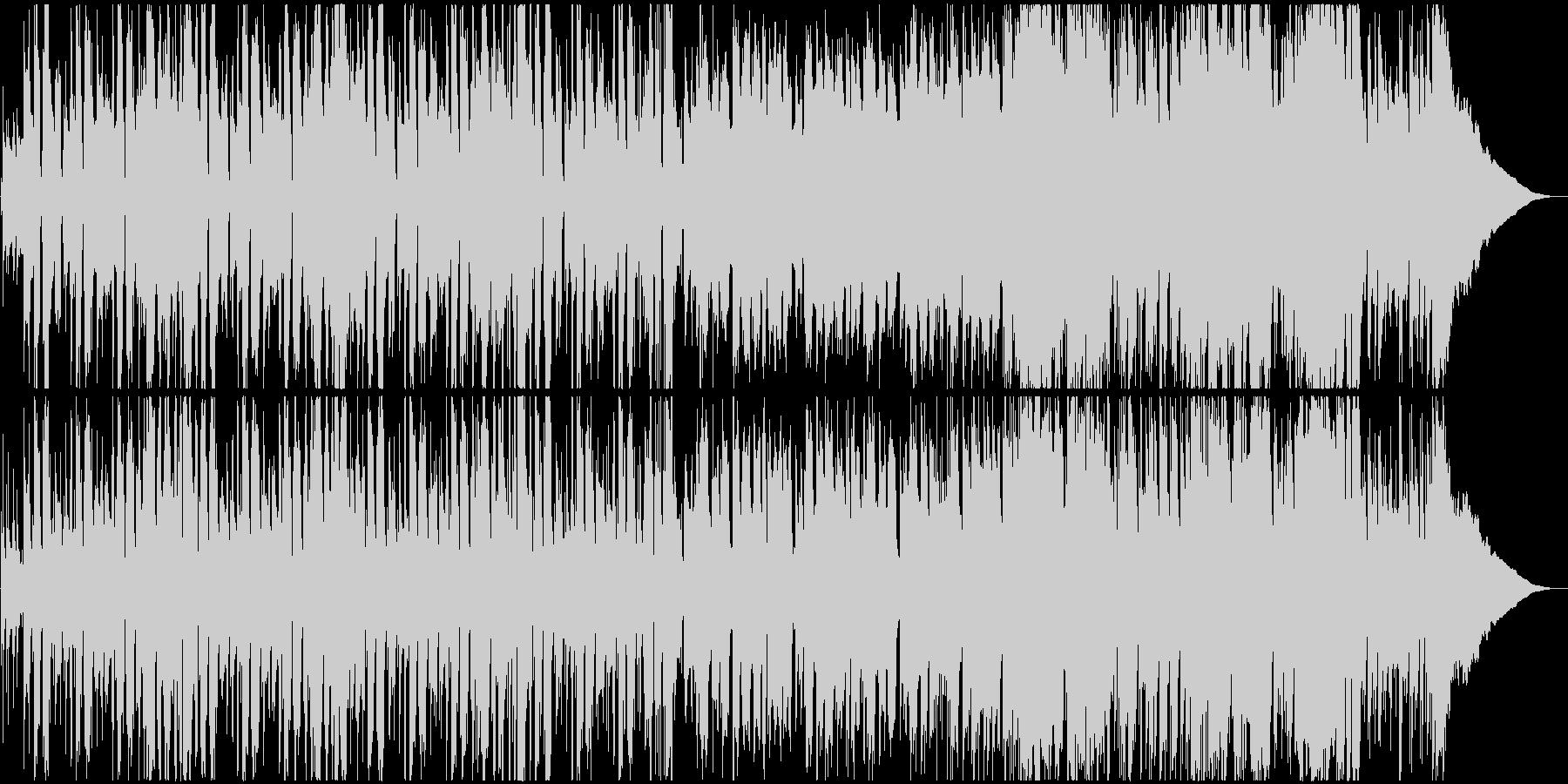カントリー調の口笛のほのぼのした曲の未再生の波形