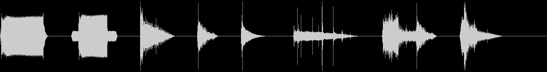 X8をオンにしたネオンライトストリップの未再生の波形