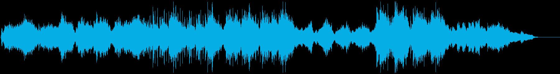 神秘的でオリエンタルなオーケストラ楽曲の再生済みの波形