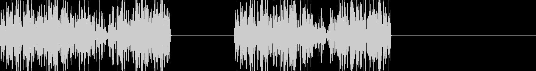 DJプレイ スクラッチ・ノイズ 150の未再生の波形