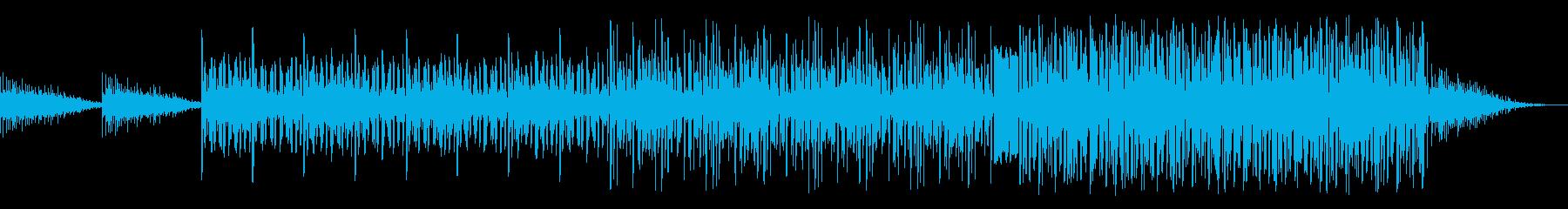 波の音が特徴的なミステリー向け曲の再生済みの波形