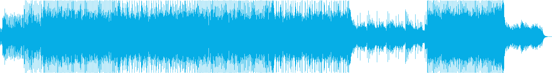 ノリの良い三味線と尺八のロックの再生済みの波形