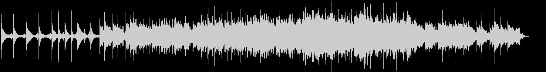 ピアノの旋律とストリングスのバラードの未再生の波形