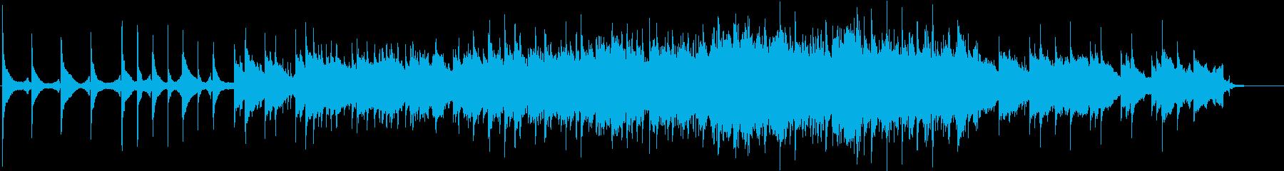 ピアノの旋律とストリングスのバラードの再生済みの波形